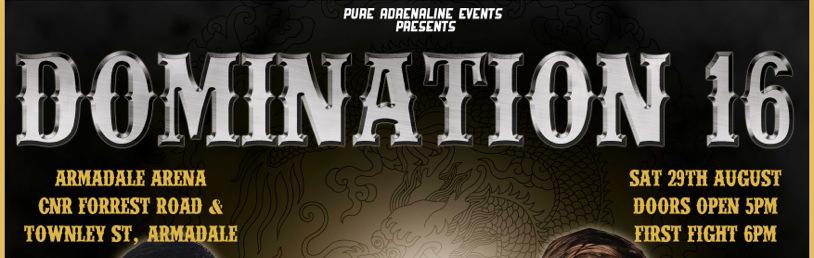 Domination 16 Perth Muay Thai Australia